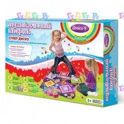 """Детский музыкальный коврик """"Супер дискотека"""" для активного отдыха, танцы, развитие пластики и координации"""