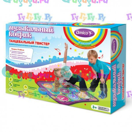 """Детский музыкальный коврик """"Хип-хоп"""" для активного отдыха, танцы, развитие пластики и координации"""