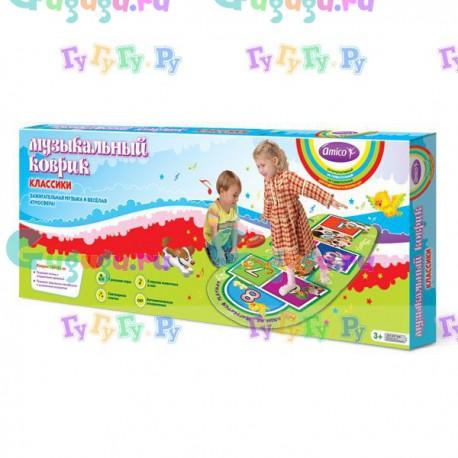 """Детский музыкальный коврик """"Классики"""" для активного отдыха, танцы, развитие пластики и координации"""