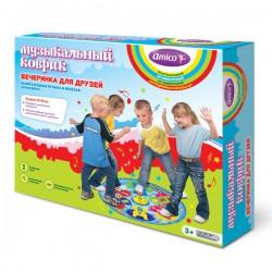 Детский музыкальный коврик Вечеринка для друзей, активный отдых, развитие пластики