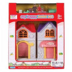 """Игровой набор """"Дом"""" (мебель и мини куклы в комплекте, 22х18 см)"""