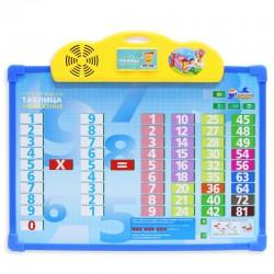 """Детский интерактивный обучающий плакат """"Таблица умножения"""" и доска для рисования"""