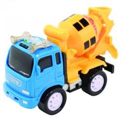 Детская машинка грузовик-бетономешалка с инерционным механизмом, световыми и звуковыми эффектами