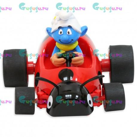 Радиоуправляемая игрушечная машина из мультфильма Смурфики - Весельчак