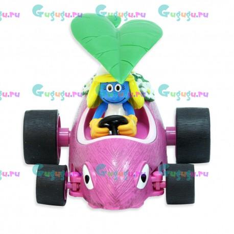 Радиоуправляемая игрушечная машина из мультфильма Смурфики - Смурфетта