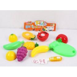 Набор маленькой хозяйки: нож, доска, овощи и фрукты которые можно резать!