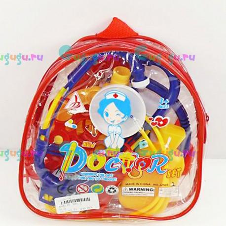 Детский игрушечный набор доктора №2: полезные предметы в рюкзаке