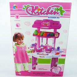 Детская кухня Волшебная хозяйка: свет, звук, овощи, посуда, кран, столовые приборы и аксессуары + наклейки