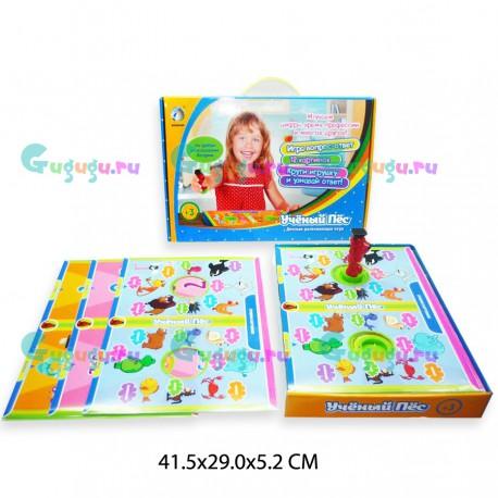 Детская настольная развивающая игра Ученый пес: помогает ребенку изучать цифры, профессии, понимать время и др.
