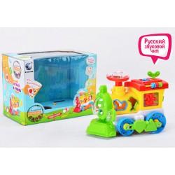 Детская развивающая игрушка паровозик-сортер