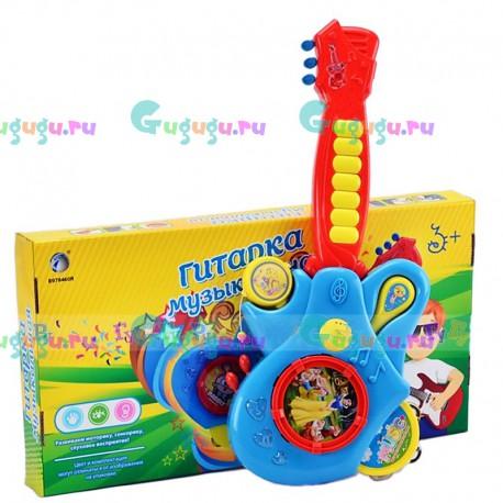 Детская интерактивная игрушка (4 в 1): гитара, барабан, бубен и маракас