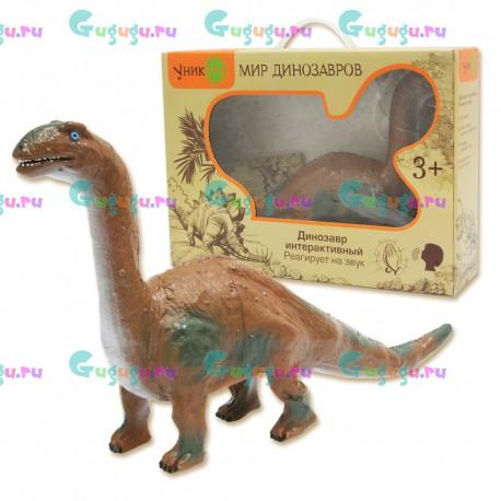 Эухелопус - удивительный интерактивный динозавр с реалистичной кожей. Рычит и реагирует на голос