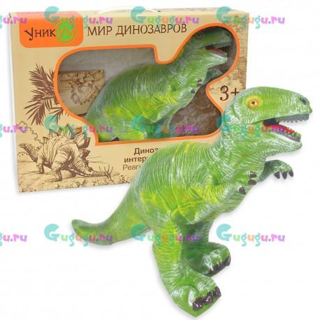 Ютораптор - это удивительный интерактивный динозавр с реалистичной кожей. Рычит и реагирует на голос