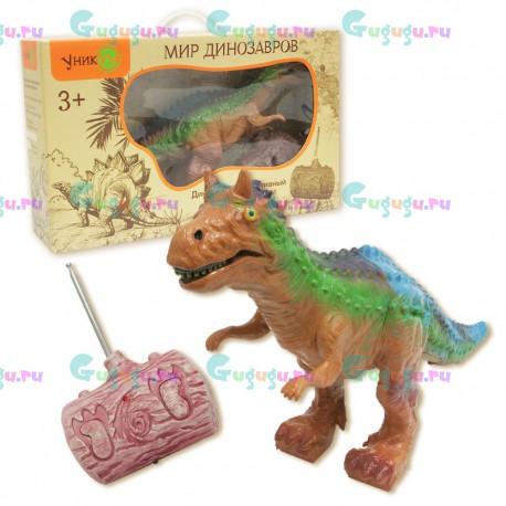 Карнотавр - интерактивная игрушка динозавр с реалистичной кожей на радиоуправлении