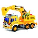Машина грузовик с экскаватором и фрикционным механизмом (свет и звук)
