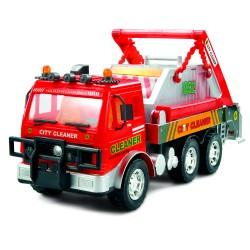 Машина грузовик-контейнерный мусоровоз с фрикционным механизмом (свет и звук)
