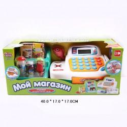 Детский игровой набор электронная касса Мой магазин: весы, микрофон, сканер штрих-кодов