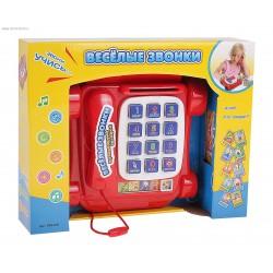 """Детский развивающий телефон """"Веселые звонки"""" - звонки животным, изучение букв и цифр"""