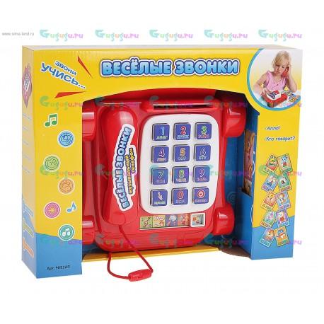 Детский развивающий телефон Веселые звонки - звонки животным, изучение букв и цифр