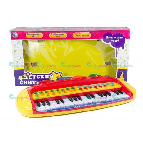 Синтезатор электронный - 8 различных инструментов: фортепиано, синтезатор, ксилофон, орган, гитара, скрипка, труба, пианино