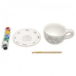 Набор для росписи керамики красками: Чайная пара