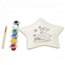 Набор для росписи керамической тарелки: Звезда