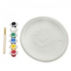 Набор для росписи керамической тарелки: Птичка