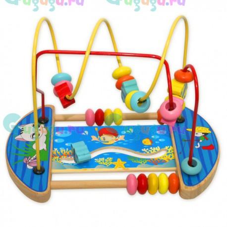 Деревянная развивающая игрушка Машинки - лабиринт для машинок