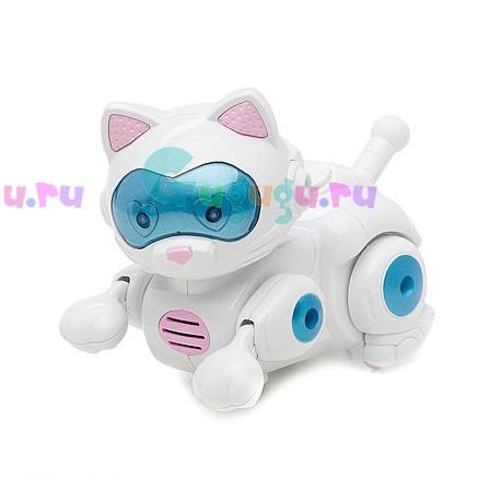 Детская игрушка, интерактивная кошка робот Мурка. Разговаривает, поет песни, бегает и крутит головой