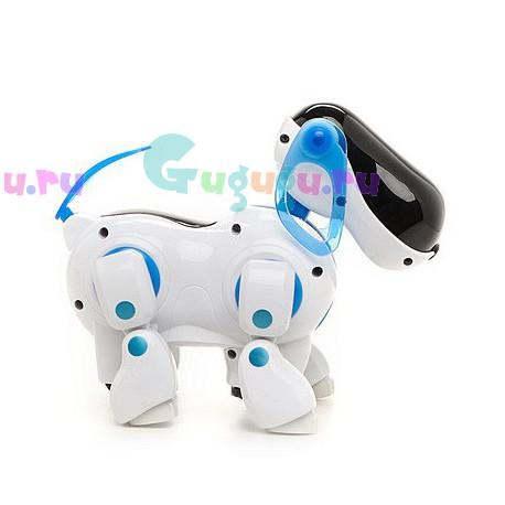 Детская игрушка, интерактивная собачка робот Рыка. Разговаривает, поет песни, бегает и крутит головой