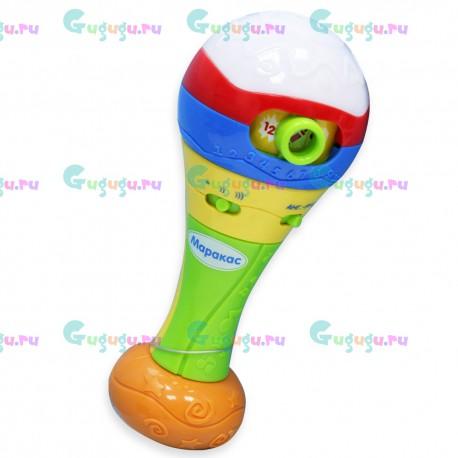 Детская музыкальная развивающая игрушка Маракас. Два языка, 3 режима игры