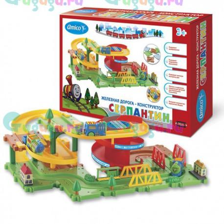 Детская интерактивная развивающая игрушка железная дорога конструктор Серпантин: Виток