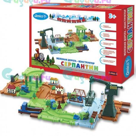 Детская интерактивная развивающая игрушка железная дорога конструктор Серпантин: Торговый порт