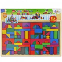 Детский деревянный конструктор из 112 деталей