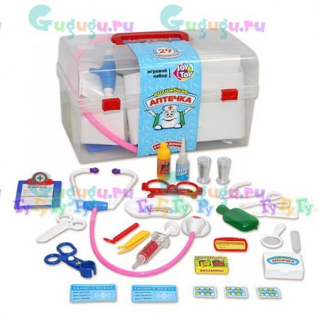 Детский игрушечный набор доктора Волшебная аптечка (28 предметов, пластиковый чемоданчик)