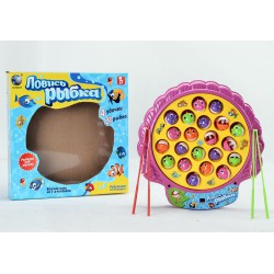 Интерактивная детская игрушка магнитная рыбалка Ловись рыбка (4 удочки, 21 рыбка)