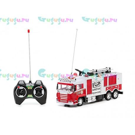 Детская интерактивная пожарная машина на радиоуправлении. Точная копия с проработанными деталями