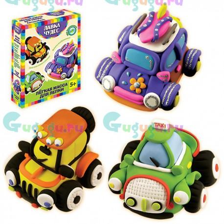 Детское творчество и развитие навыков: Набор для легкой лепки Автомобиль (3 машинки)