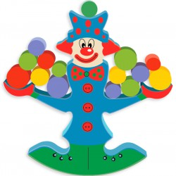 Детская деревянная игрушка - весы: Клоун