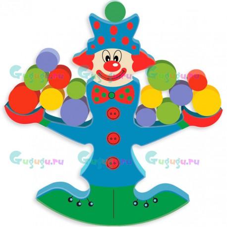 Яркая развивающая детская деревянная игрушка весы: Клоун