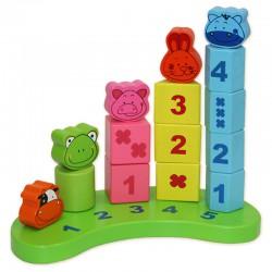 """Развивающая деревянная игрушка """"Пирамидки: Счет"""""""