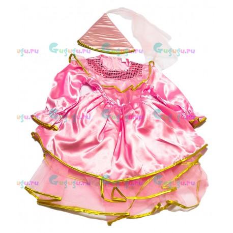 Детский карнавальный костюм для девочек Розовая волшебница для детских праздников