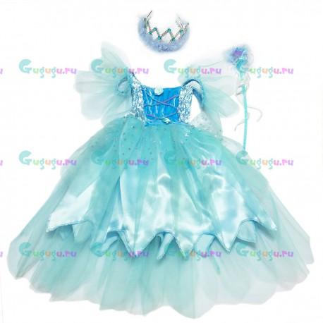 Детский карнавальный костюм для девочек Веселая Фея для детских праздников (4-6 лет)