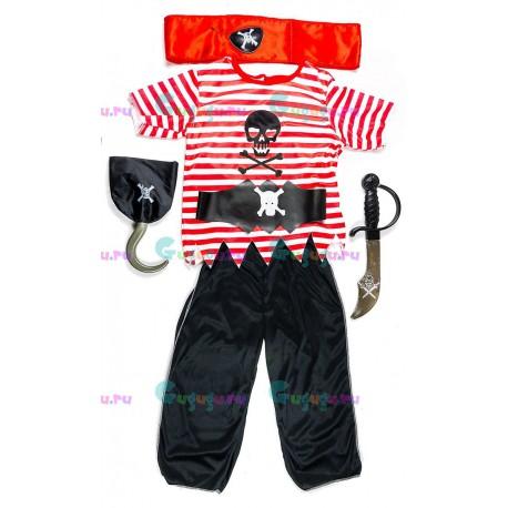 """Карнавальный костюм """"Пират Карибского Моря"""" с аксессуарами для детских праздников"""