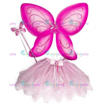 Детский карнавальный костюм для девочек разноцветный Фея для праздников