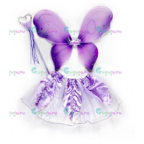 Детский карнавальный костюм для девочек розовый Фея для праздников