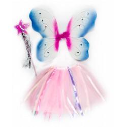 """Карнавальный костюм розово-голубой """"Фея"""" для детских праздников"""