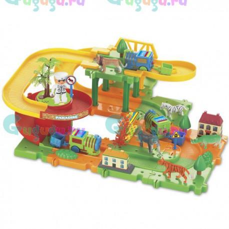 Детская игрушка железная дорога конструктор Серпантин: Зоопарк