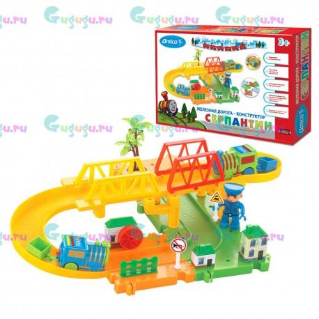 Детская игрушка железная дорога конструктор Серпантин: Мост