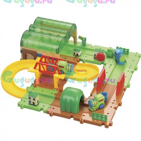 Детская игрушка железная дорога конструктор Серпантин: Депо